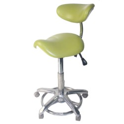 STOOL CHAIR. TABURETE CLINICO DE DENTISTA CON RESPALDO