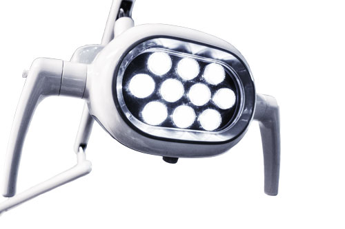 Lampara LED Sillón dental BADER